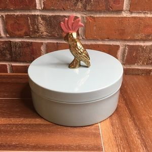 NWT Opalhouse decorative tin cockatoo box